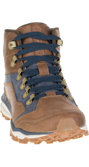 Merrell All Out Crusher Mid - Calzado - marrón/azul